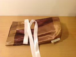 Handmade by Caroline Hallak NEW Personal Touch Gift Wine Bag Gold Brown image 5