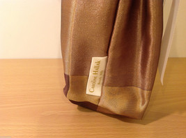 Handmade by Caroline Hallak NEW Personal Touch Gift Wine Bag Gold Brown image 3