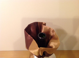 Handmade by Caroline Hallak NEW Personal Touch Gift Wine Bag Gold Brown image 4