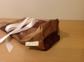 Handmade by Caroline Hallak NEW Personal Touch Gift Wine Bag Gold Brown image 6