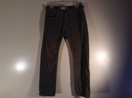 Levis Slim Straight Gray Green Corduroy Pants Size 32 by 29 Zip Button Closure image 2