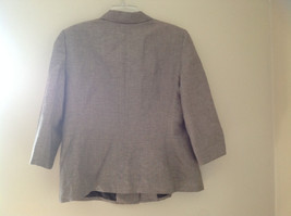 Light Brown Patterned Blazer Three Quarter Length Sleeves by Le Suit Size 16 image 6