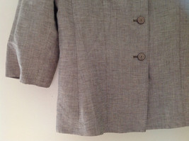 Light Brown Patterned Blazer Three Quarter Length Sleeves by Le Suit Size 16 image 3