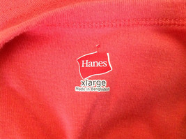 Hanes Pink Sleeveless Shirt Made in Bangladesh Size XL image 6
