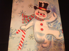 Happy Dancing Snowman Christmas Dish Towel by Fiddlers Elbow Absorbent Lint Free image 3
