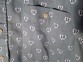 Light Green Gray Button Up Long Sleeve Design White Shields Fieldmaster Size L image 4