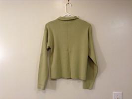 Light Olive Green Long Sleeve V Neck Sweater V A S Clothing Company Size Small image 2