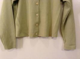 Light Olive Green Long Sleeve V Neck Sweater V A S Clothing Company Size Small image 5