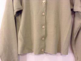 Light Olive Green Long Sleeve V Neck Sweater V A S Clothing Company Size Small image 4