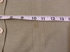 Light Olive Green Long Sleeve V Neck Sweater V A S Clothing Company Size Small image 10