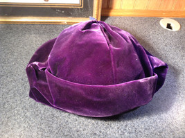 Lightly Worn French Style Dark Purple Hat Most Likely Handmade image 8