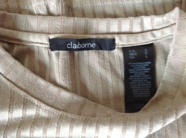 Light Green Striped Short Sleeve Shirt by Claiborne Size Large image 5