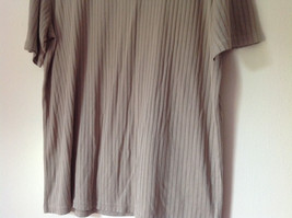 Light Green Striped Short Sleeve Shirt by Claiborne Size Large image 3