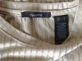 Light Green Striped Short Sleeve Shirt by Claiborne Size Large image 6