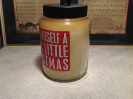 Have Yourself A Merry Little Christmas Sugar Cook Jar Candle Six Inches High image 3