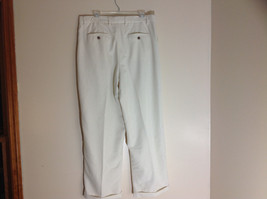 Havana Jack's Cafe White Pleated Dress Pants Cuffs on Pant Legs Size 36 by 30 image 7