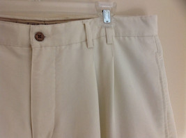 Havana Jack's Cafe White Pleated Dress Pants Cuffs on Pant Legs Size 36 by 30 image 3