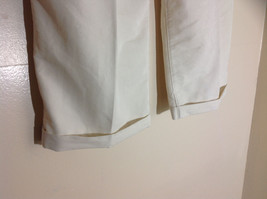 Havana Jack's Cafe White Pleated Dress Pants Cuffs on Pant Legs Size 36 by 30 image 6