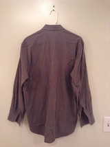 Haupt Evolution Blue Tan Checkered Button Up Shirt Long Sleeves Size Large image 5
