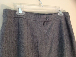 Heather Gray Belt Decorated Wool Knee Length Pencil Style Skirt by Basler image 4