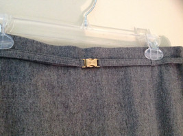 Heather Gray Belt Decorated Wool Knee Length Pencil Style Skirt by Basler image 3