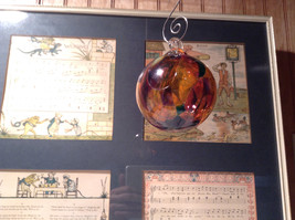Heirloom Glass Hand Blown Ornament Studio Glass Orange Burgundy Green image 4