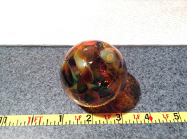 Heirloom Glass Hand Blown Ornament Studio Glass Orange Burgundy Green image 5