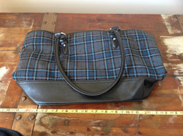 Heritage Collection by Bass Large Practical Dark Blue Gray Purse Many Pockets image 7