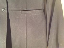 Hennes Collection Black Long Formal Jacket Front Pockets Shoulder Pads Size 10 image 5