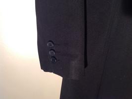 Hennes Collection Black Long Formal Jacket Front Pockets Shoulder Pads Size 10 image 6
