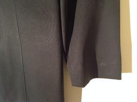 Hennes Collection Black Long Formal Jacket Front Pockets Shoulder Pads Size 10 image 8
