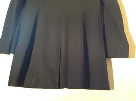 Hennes Collection Black Long Formal Jacket Front Pockets Shoulder Pads Size 10 image 9