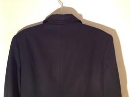 Hennes Collection Black Long Formal Jacket Front Pockets Shoulder Pads Size 10 image 11