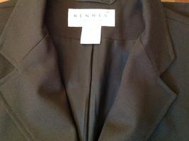Hennes Collection Black Long Formal Jacket Front Pockets Shoulder Pads Size 10 image 12