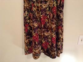 Herman Geist 100 Percent Cotton Size 10 Floral Corduroy Casual Skirt image 3