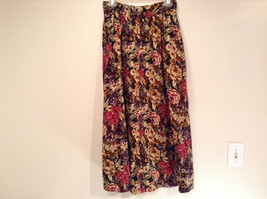Herman Geist 100 Percent Cotton Size 10 Floral Corduroy Casual Skirt image 7