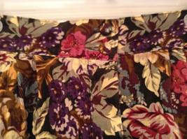 Herman Geist 100 Percent Cotton Size 10 Floral Corduroy Casual Skirt image 5