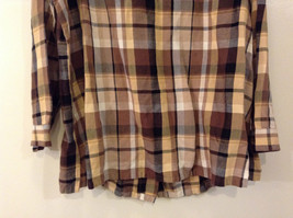 Long Sleeve Multicolored Plaid Button Up Collared Maggie Barnes Shirt Size 18W image 7