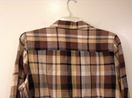 Long Sleeve Multicolored Plaid Button Up Collared Maggie Barnes Shirt Size 18W image 6