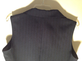 Lisa Jo Navy Blue Black Sleeveless Vest 3 Buttons Collar Formal Size 9 to 10 image 8