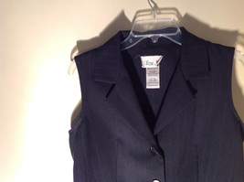 Lisa Jo Navy Blue Black Sleeveless Vest 3 Buttons Collar Formal Size 9 to 10 image 6