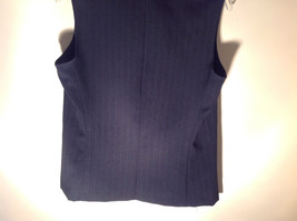 Lisa Jo Navy Blue Black Sleeveless Vest 3 Buttons Collar Formal Size 9 to 10 image 9