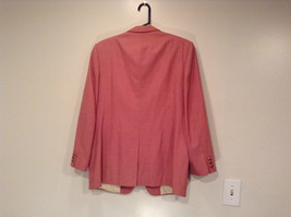 Lined Pink Blazer 2 Button Closure 2 Front Pockets Ratner Clothes No Size Tag image 5