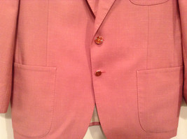 Lined Pink Blazer 2 Button Closure 2 Front Pockets Ratner Clothes No Size Tag image 3
