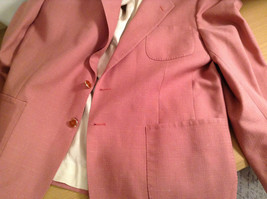 Lined Pink Blazer 2 Button Closure 2 Front Pockets Ratner Clothes No Size Tag image 8