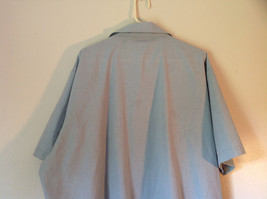 Lions Den Blue Light Gray Short Sleeve Zipper Closure Casual Shirt Size XXL image 4