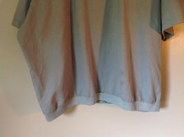 Lions Den Blue Light Gray Short Sleeve Zipper Closure Casual Shirt Size XXL image 5