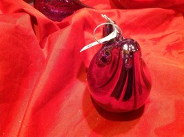 Holiday glass ornament Christmas contemporary look purple stream lined bird image 7