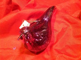 Holiday glass ornament Christmas contemporary look purple stream lined bird image 11