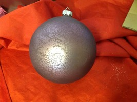 Holiday glass ornament Christmas giant purple matte contemporary ball image 9